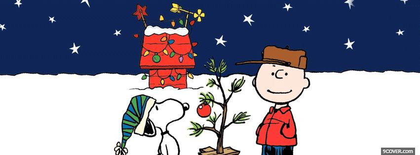 Snoopy Christmas Photo Facebook Cover