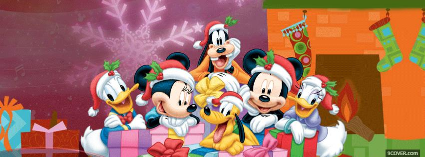 Photo Disney Family Christmas Facebook Cover for Free