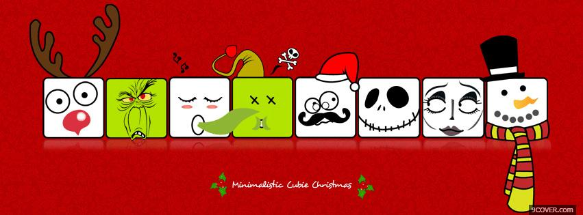 Photo Christmas Cube Facebook Cover for Free
