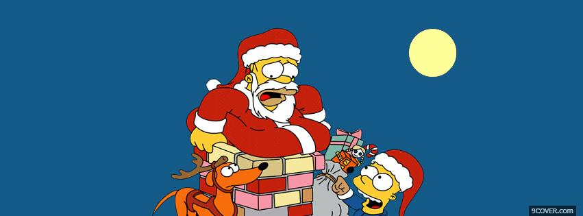 Photo Simpsons Christmas  Facebook Cover for Free