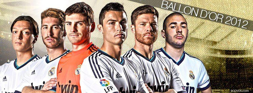 Photo Ballon Dor 2012 Facebook Cover for Free