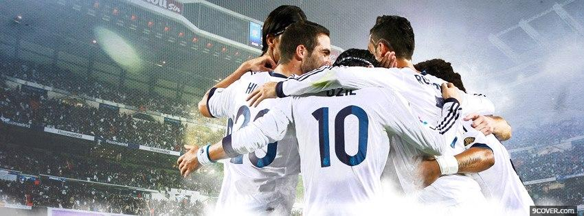 Photo Real Madrid Team  Facebook Cover for Free