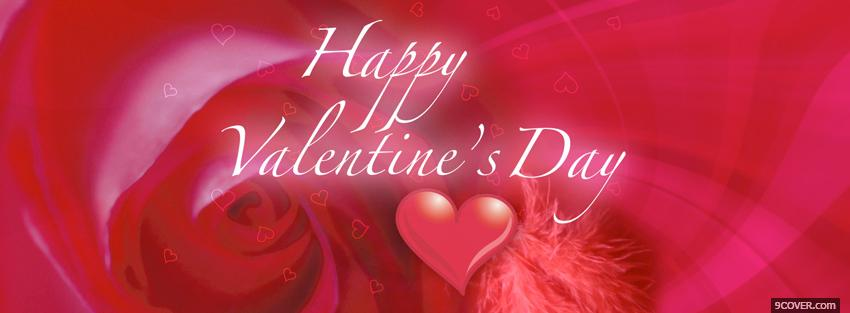 Photo Happy Valentines Day  Facebook Cover for Free
