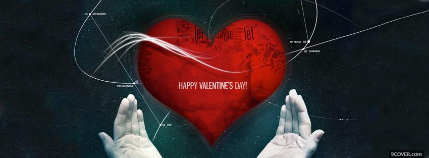 Photo Heart In Hands Valentines Day Facebook Cover for Free