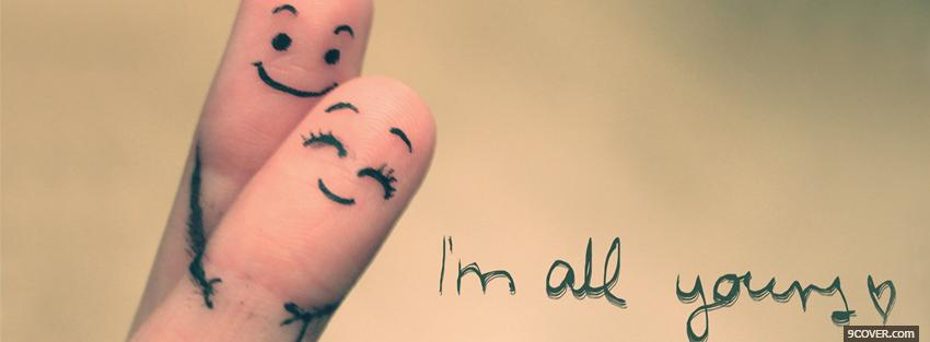 Adorable Hugging Fingers facebook cover
