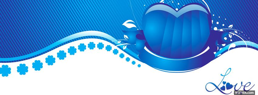 Photo Blue And White Love Facebook Cover for Free