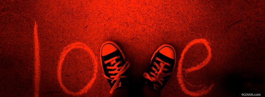 Photo Converse Sneackers Love Facebook Cover for Free