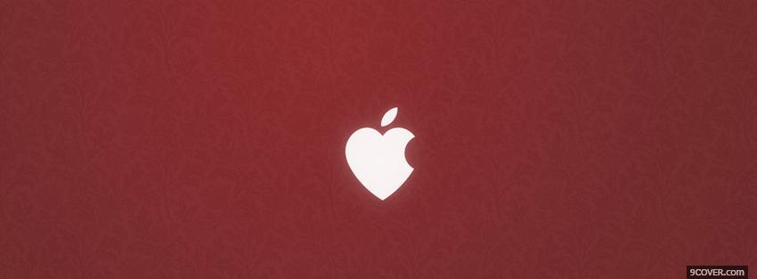 Photo Love Apple Shaped Heart  Facebook Cover for Free