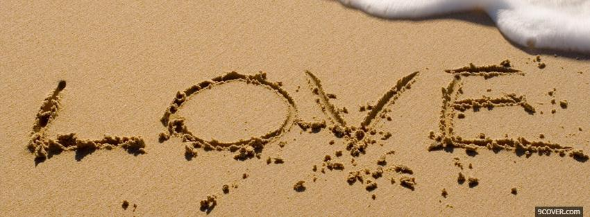 Photo Love In The Sand  Facebook Cover for Free