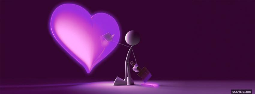 Photo Painting Purple Heart Facebook Cover for Free