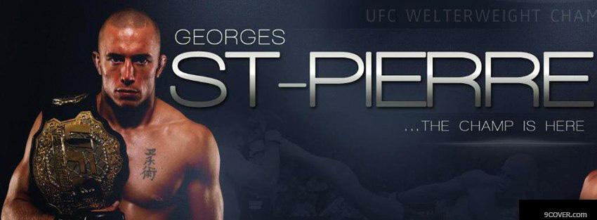 download free big georges st pierre gsp fb cover