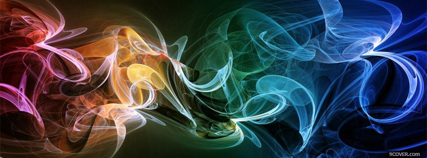Photo fantastic waves abstract picture Facebook Cover for Free