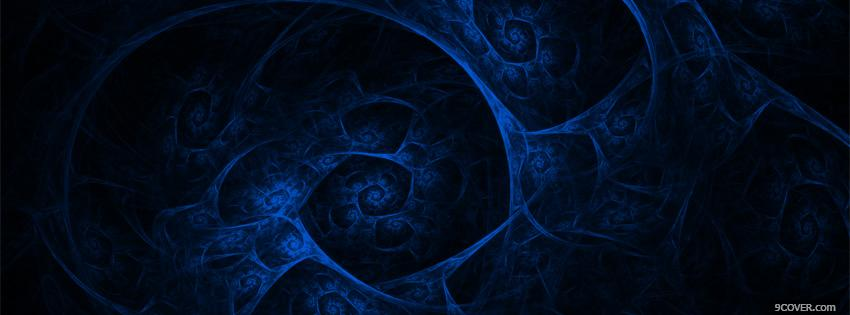Photo abstract matrix blue Facebook Cover for Free
