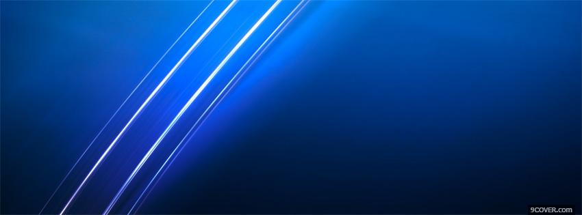 Photo blue abstract xmen Facebook Cover for Free