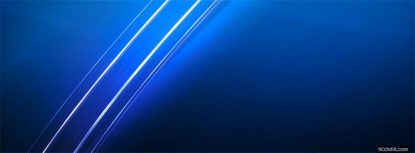 Blue Abstract Xmen Photo Facebook Cover