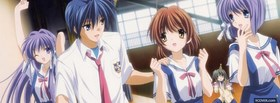 free manga clannad girls and boy facebook cover