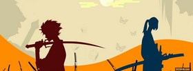 manga holding swords facebook cover