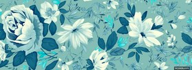 blue and white flowers facebook cover