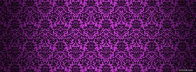 free energetic purple pattern facebook cover