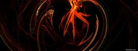 free fiery abstract facebook cover