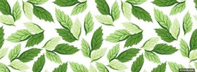 free green leaves abstract facebook cover