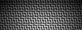 free classic black and white pattern facebook cover