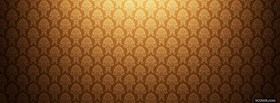 free gold floral pattern facebook cover