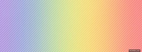 free rainbow pastel colours facebook cover