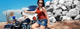 girl outside with motorcycle facebook cover
