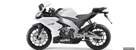 white aprilia rs4 moto facebook cover