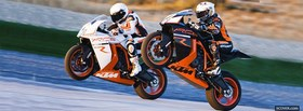 two ktm racing facebook cover