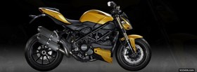 yellow ducati streetfighter moto facebook cover