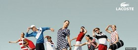 fashion models wearing lacoste collection facebook cover