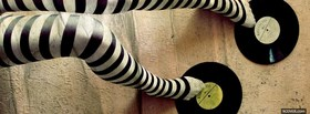 fashion striped black and white stockings facebook cover