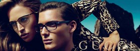 gucci glasses campaign woman with man facebook cover