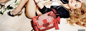 fashion gorgeous woman with purse facebook cover