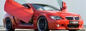 bmw red m6 hamann facebook cover