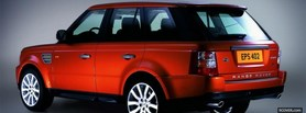 free red range rover sports car facebook cover