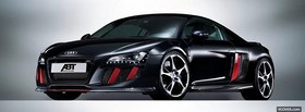 black audi r8 abt facebook cover