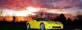 free chevrolet corvette in the woods facebook cover