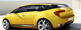 yellow citroen car facebook cover
