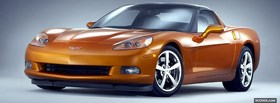 corvette 2008 orange car facebook cover