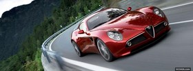 alfa romeo competizione red car facebook cover