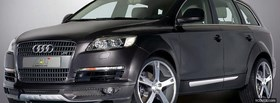 q7 black audi car facebook cover