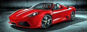 red ferrari scuderia spider facebook cover