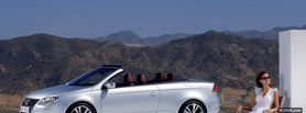 vw eos and woman facebook cover