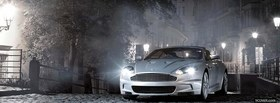 aston martin silver car facebook cover
