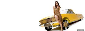 girl with yellow car facebook cover