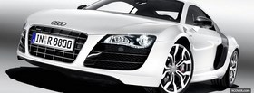 white audi car facebook cover