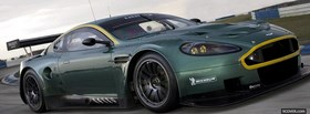 green aston martin car facebook cover